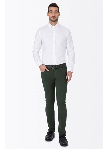 Slim Fit Pantolon-Hemington